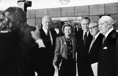 Ron shooting President and Betty Ford, President Nixon, Dr. Henry Kissinger @ Nixon Library, by Steve Salisian