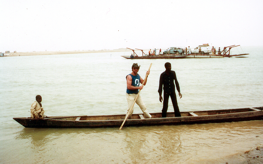 Ron Crossing the Niger River